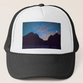 Colorful Teton Night Trucker Hat