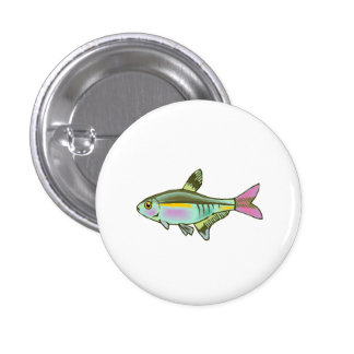 Colorful Tetra Fish Buttons