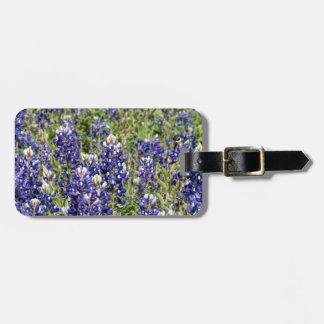 Colorful Texas Bluebonnets - Lupinus texensis Bag Tag
