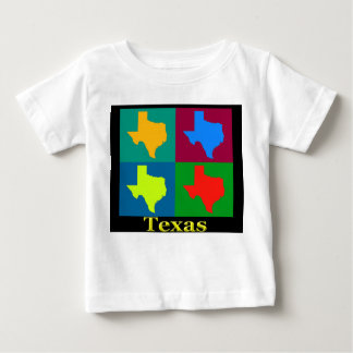 Colorful Texas Pop Art Map Baby T-Shirt