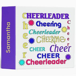 Colorful Text Cheerleader Binder