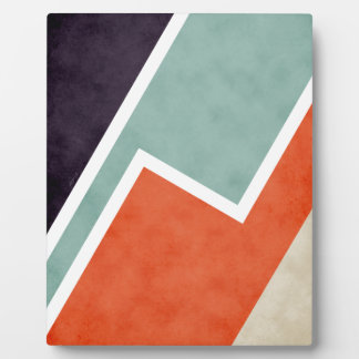 Colorful Textural Abstract Graphic Plaque