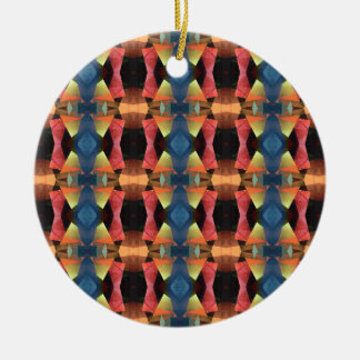 Colorful Textured Abstract Ceramic Ornament
