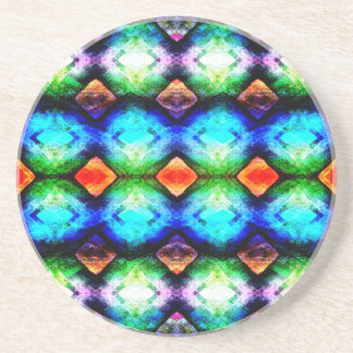 Colorful Textured Abstract Drink Coasters