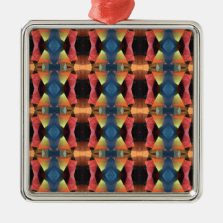 Colorful Textured Abstract Metal Ornament