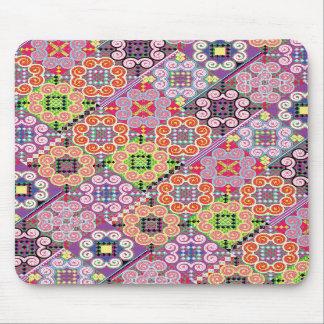 Colorful Thai pattern mousepad