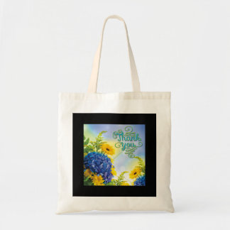Colorful Thank You Floral Tote Bag
