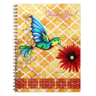 Colorful Thank You Hummingbird Notebook