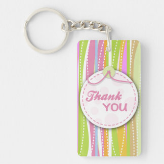 Colorful thank you keyrings acrylic keychain