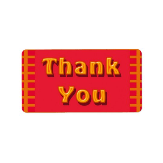 colorful Thank you Label