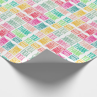Colorful Thanks Cheerful Appreciation Gift Wrap