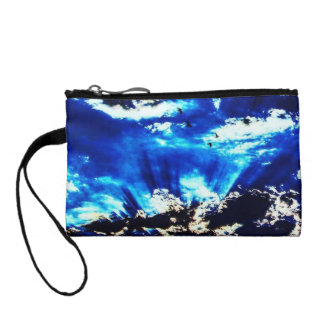 Colorful The Night Comes Key Coin Clutch