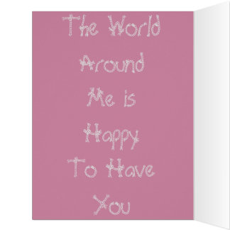 Colorful The World Around me Happy Birthday Colors Card