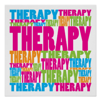 Colorful Therapy Poster
