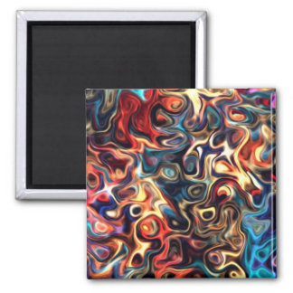 Colorful third Z.2 Modern Art 92.5 Magnet