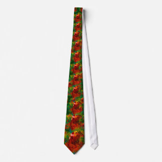 Colorful Thoroughbred in Typography Neck Tie