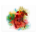 Colorful Thoroughbred in Typography Postcard