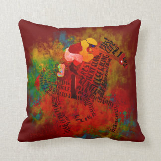 Colorful Thoroughbred Racehorse Pillow