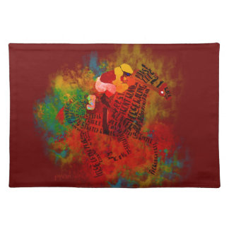 Colorful Thoroughbred Racehorse Placemats