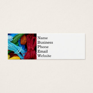 Colorful Thread Teal Purple Yellow Red Sewing Gift Mini Business Card