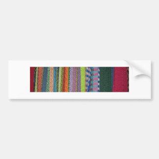 Colorful Threads Rainbow Bumper Sticker