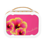 Colorful Three Hibiscus Lunch Box