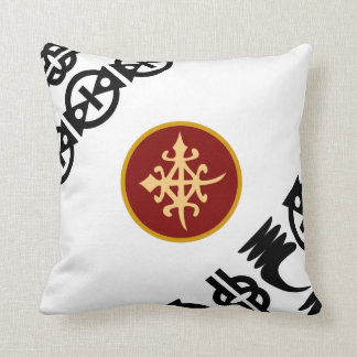 Colorful Throw Pillows-African Adinkra Symbols