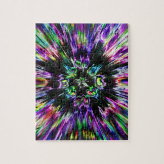 Colorful Tie Dye Abstract Jigsaw Puzzle