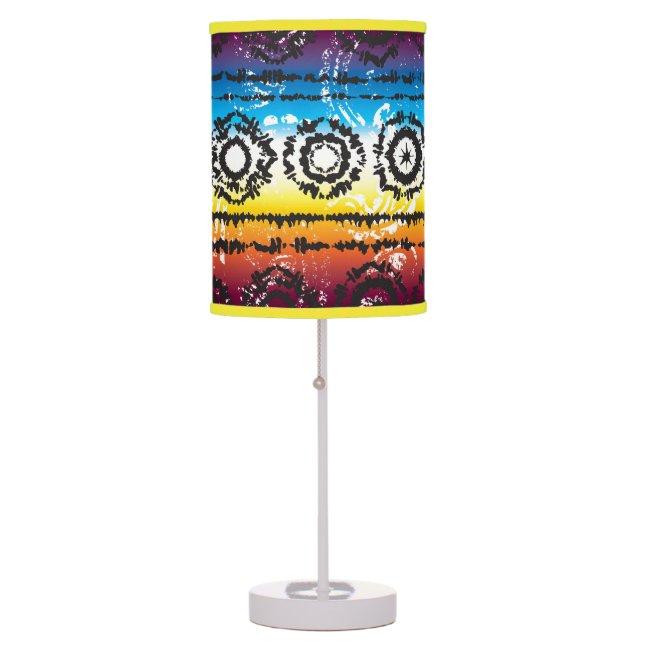 Colorful Tie Dye Batik Design Lamp Shade