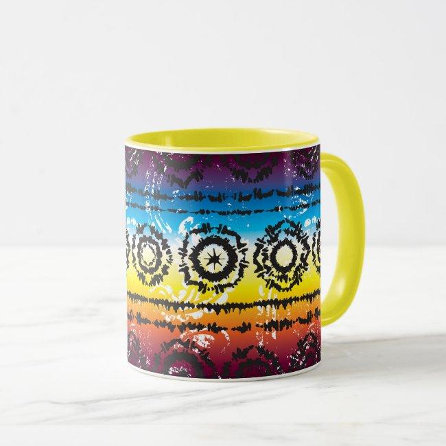 Colorful Tie Dye Batik Design Mug
