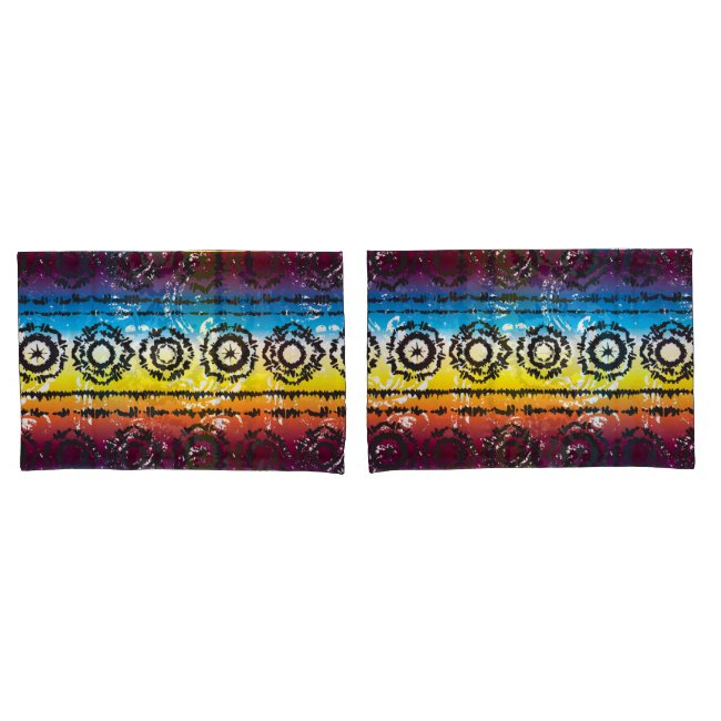 Colorful Tie Dye Batik Design Pillowcases