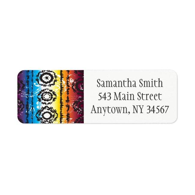 Colorful Tie Dye Batik Return Address Labels