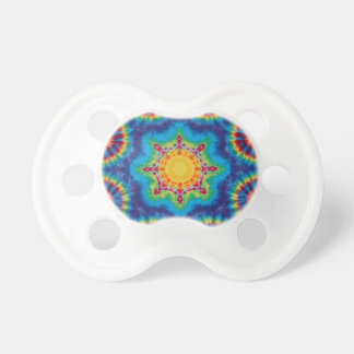Colorful tie dye design baby pacifier