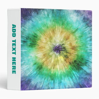 Colorful Tie Dye Graphic Binder
