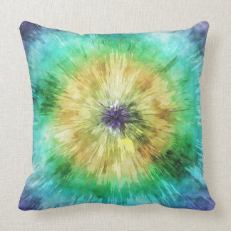 Colorful Tie Dye Graphic Throw Pillow