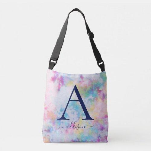 Colorful Tie-Dye Monogram Crossbody Bag