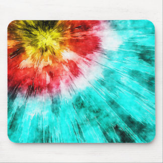 Colorful Tie Dye Mouse Pad