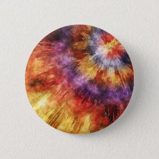 Colorful Tie Dye Rings Pinback Button