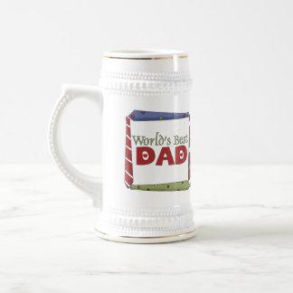 Colorful Ties World's Best Dad Mug