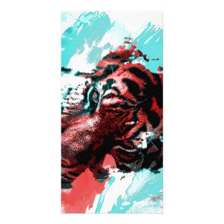 Colorful Tiger Animal Card
