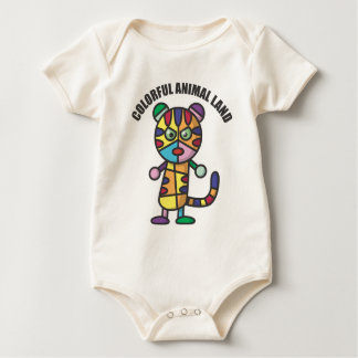 colorful tiger baby bodysuit