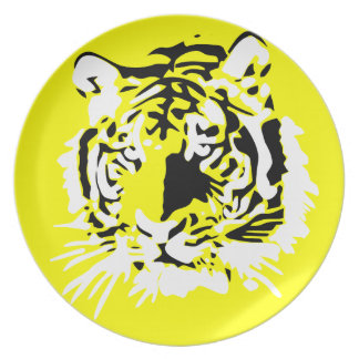 Colorful Tiger face Dinner Plate