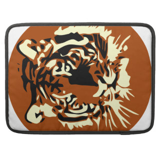 Colorful Tiger face Sleeves For MacBook Pro
