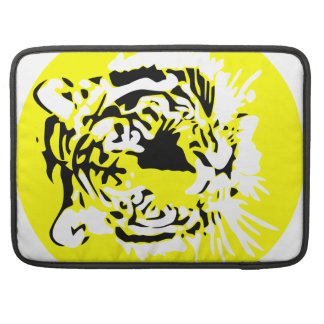 Colorful Tiger face Sleeves For MacBooks