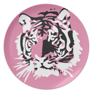 Colorful Tiger face Melamine Plate