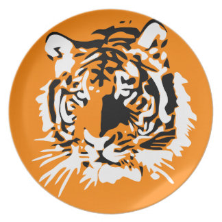 Colorful Tiger face Plate