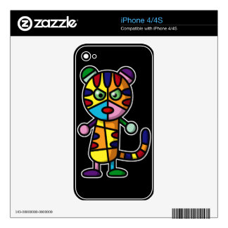 colorful tiger iPhone 4 skins