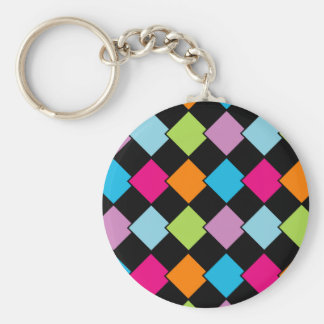 Colorful tile background keychain