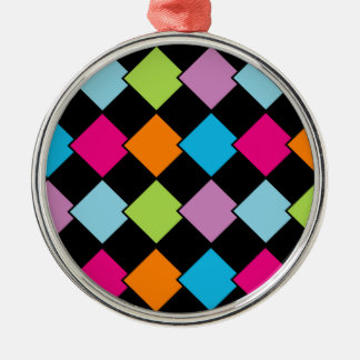 Colorful tile background metal ornament
