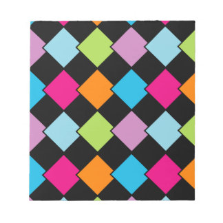 Colorful tile background notepad